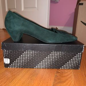 Fratelli Rossetti Green Suede Shoes